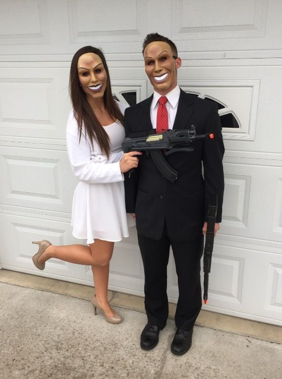 Couple Halloween costume idea \u2022 The Purge \u2022 #thepurge #halloween - couples funny halloween costume ideas