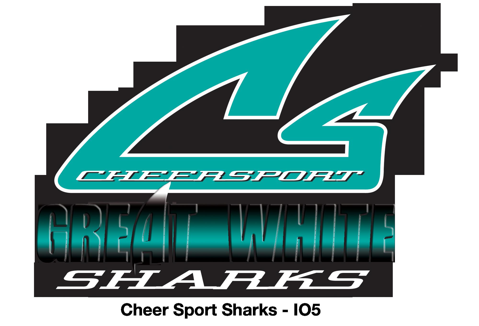Great white sharks cheer by Cheergirl on Cheer Shark