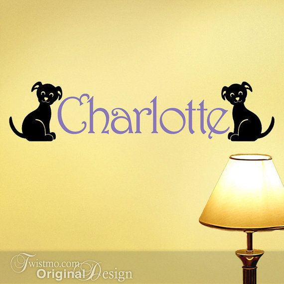 Custom Name Vinyl Wall Decals Puppy Dogs for Kids Room by Twistmo ...