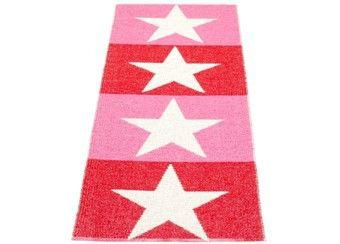 walk on stars - Rosaroter Teppich mit Vanilla Sternen