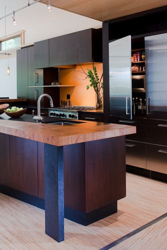 fifties split modern kitchen