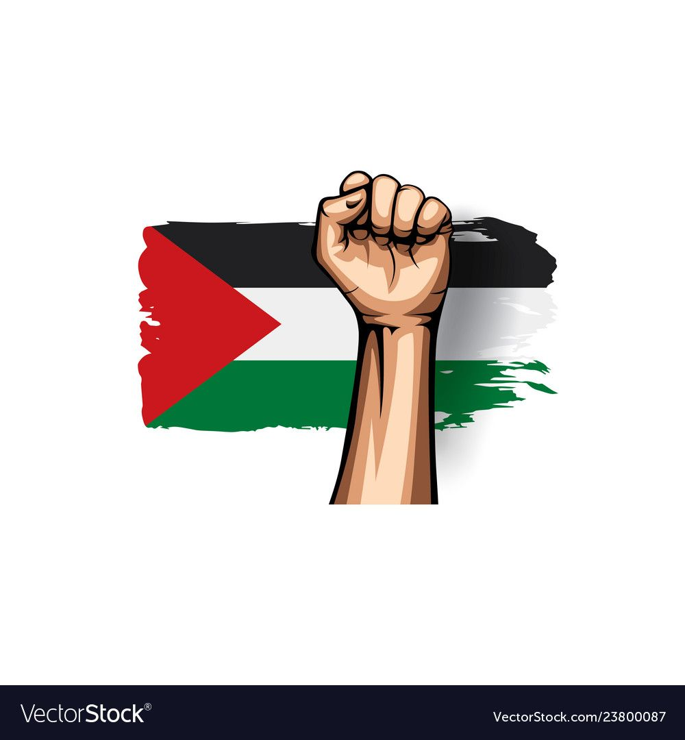 Palestine Flag And Hand On White Background Vector Illustration Download A Free Preview Or High Quality Adobe Illustra In 2021 Palestine Art Palestine Flag Palestine