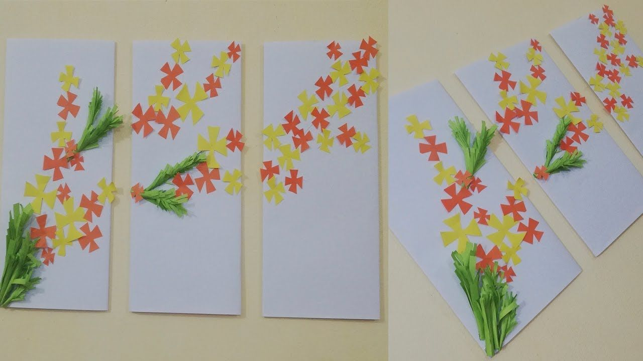 Diy Paper Flower Wall Decor Best Out Of Waste Easy Ideas