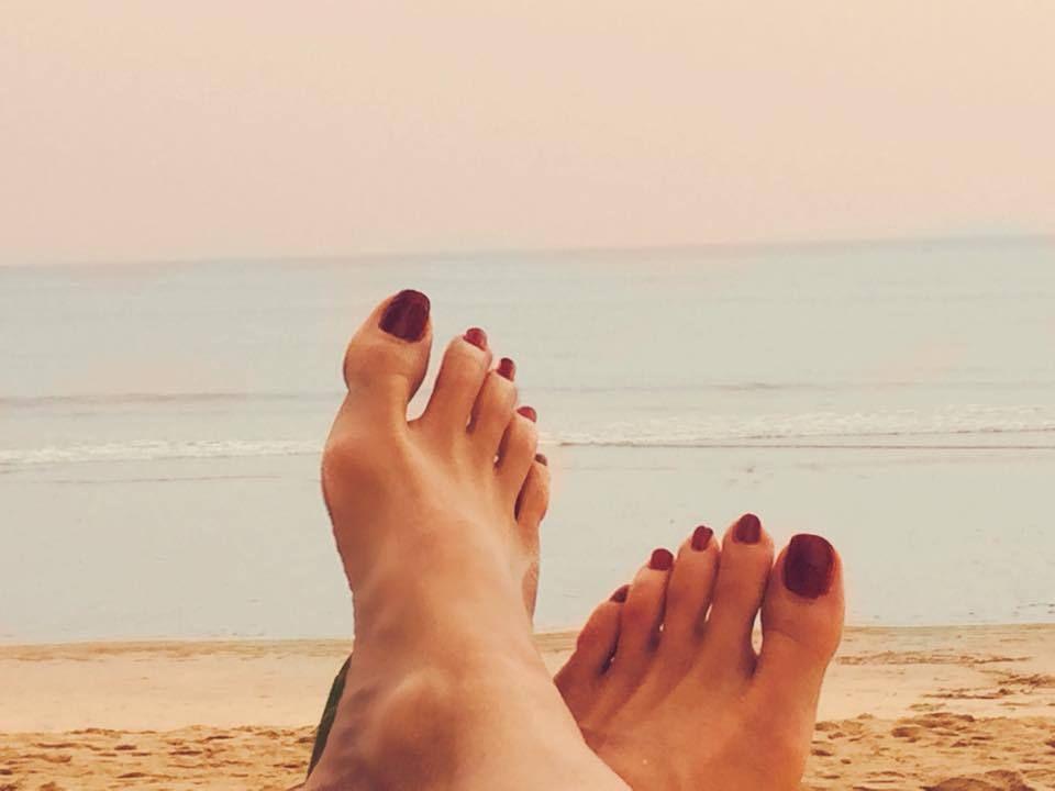 Sonya Kraus, Füße, Füsse, Feet, Schuhe, Bilder, Pictures, Celeb, Celebrity, Zehen, Toes