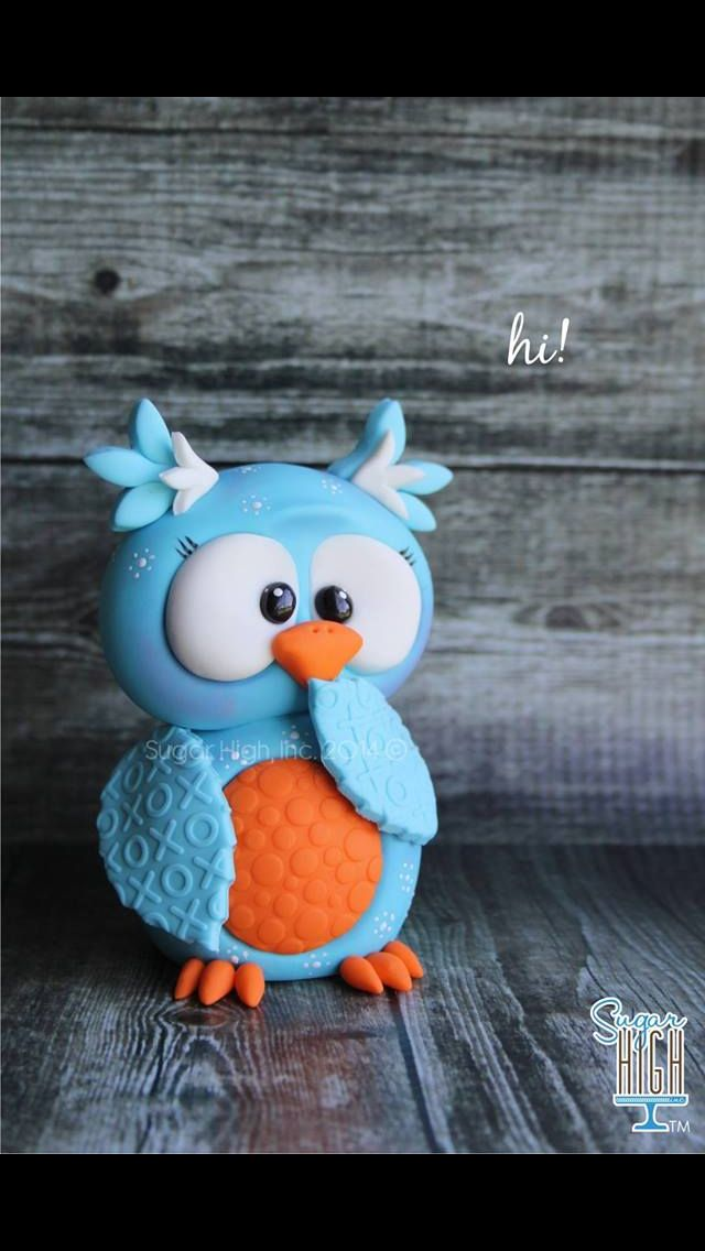 Cute owl cake topper. Love