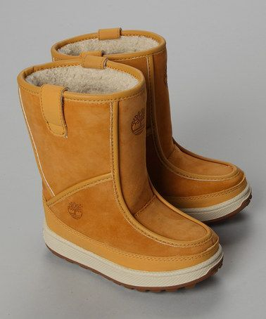 5772b7292e7fe Tan Pull On Suede Boots - Infant, Toddler & Kids by Timberland ...