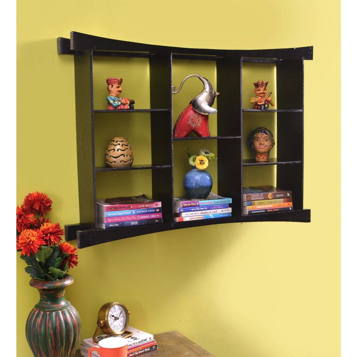 Wooden Web-lock Wall Shelf (Walnut Brown | Pinterest | Shelves ...