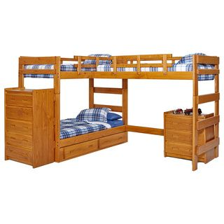 Woodcrest Heartland Collection Twin Or Futon Bunk Bed With Extra