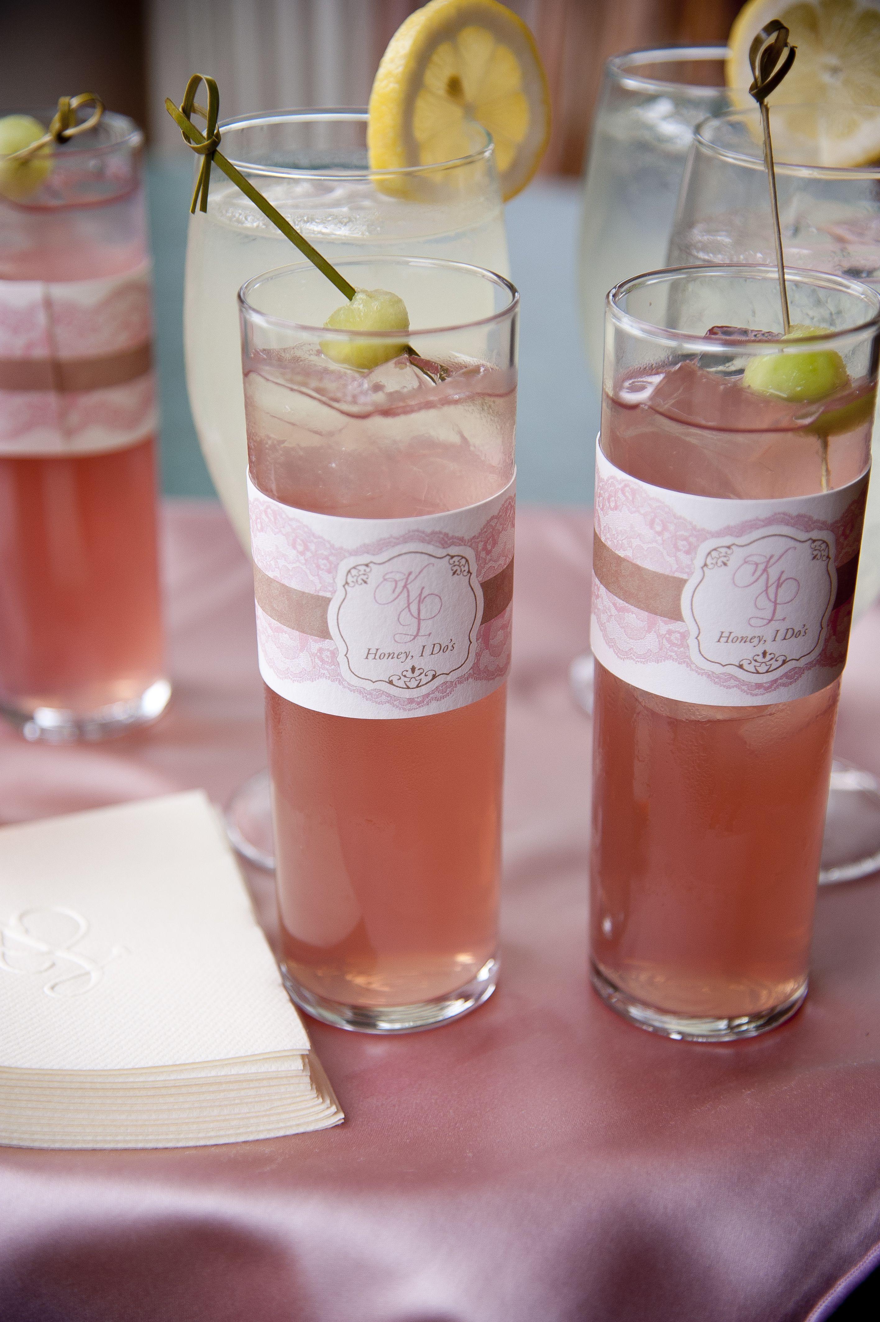 Honey I Do\'s | Specialty Drink | Kiawah Island Wedding | Pink and ...
