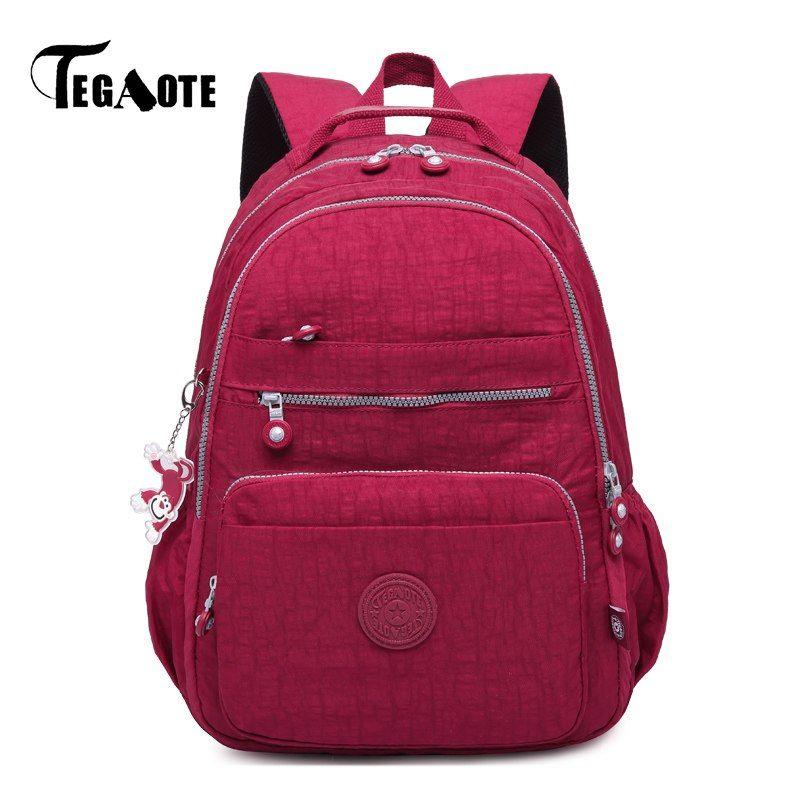 Find More Backpacks Information about TEGAOTE Mochila Feminine Backpack for Teenage  Girls School bags Women Female Nylon Laptop Bagpack Travel Leisure Style ... 963fbc5569f3d