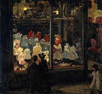 Israels Isaac - Shop WindowRijksmuseum Amsterdam LocatieAmsterdam KunstenaarIsaac Israëls Jaar1894-1898 TypeOlie op linnen