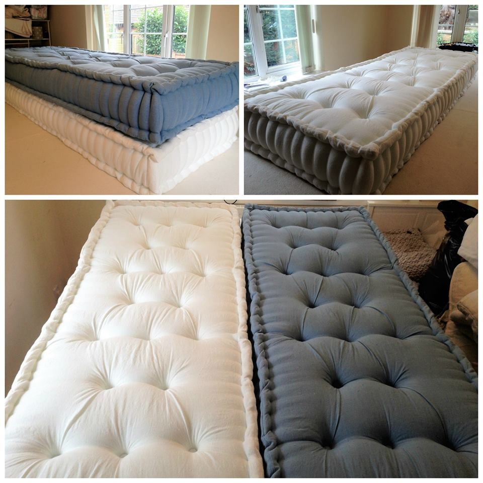 Deepbuttoned diamond tufted floor mattresses that went