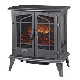 Shop Style Selections 25 In Black Corner Electric Stove At Lowes Com 179 00 Free Standing Electric Fireplace Best Electric Fireplace Stove Fireplace