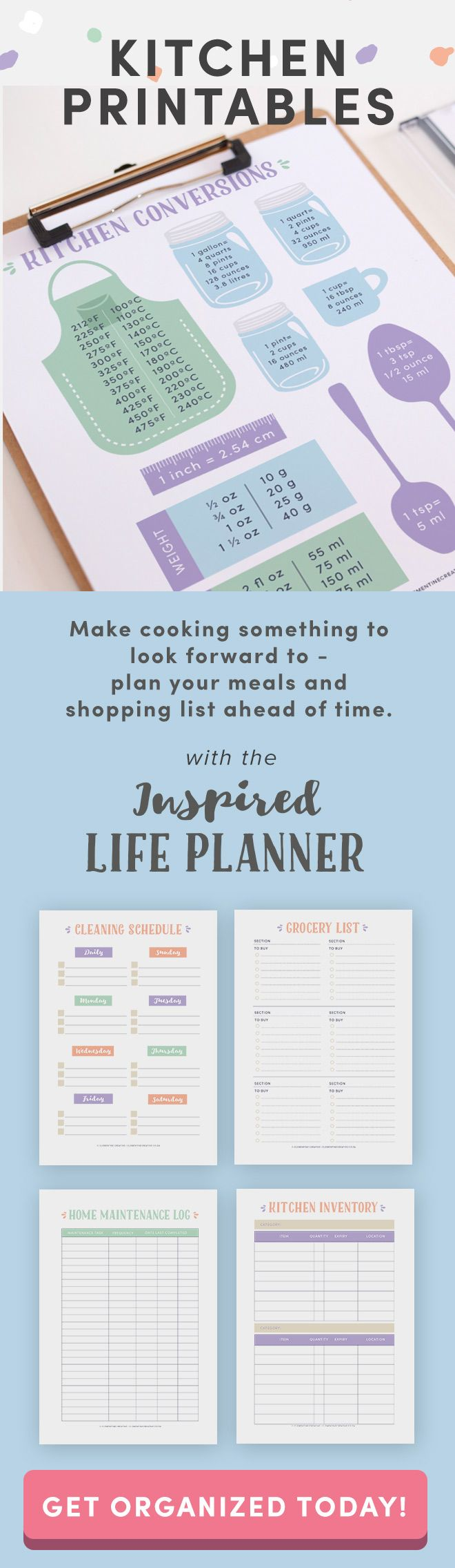 The Inspired Life Planner - a pretty printable planner for 2018 ...