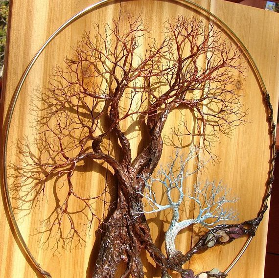 Metal Tree Of Life Forest wall art Walk Softly Speak Softly | Metal ...