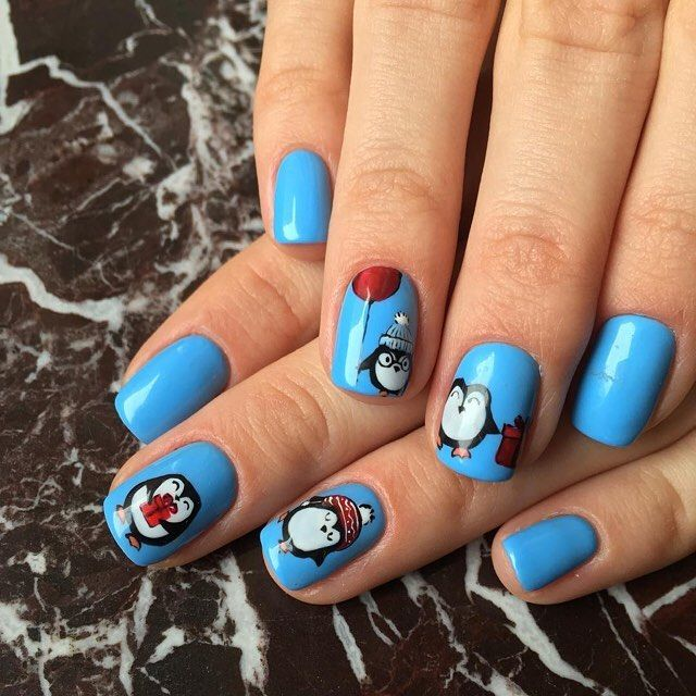 nice 30 Exquisite Ideas for Blue Nails – Impeccable and Charming