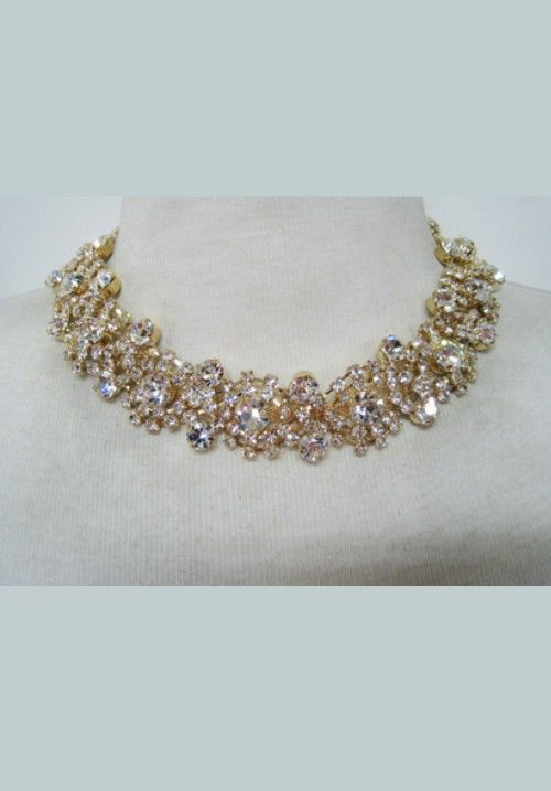 Crystal Choker Antique Gold   Just At £ 90  Available to order here https://goo.gl/l5z6Q4