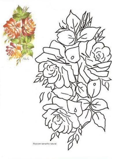 Patrones De Flores Para Pintar Sobre Tela Bordado Y Pintura