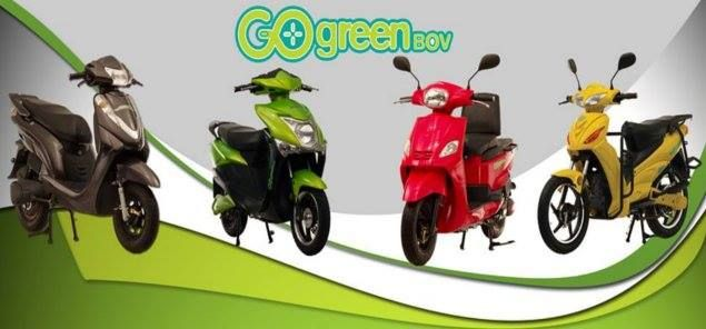 Go Green Bov Bike Models Electric Scooter Green Electric Scooter