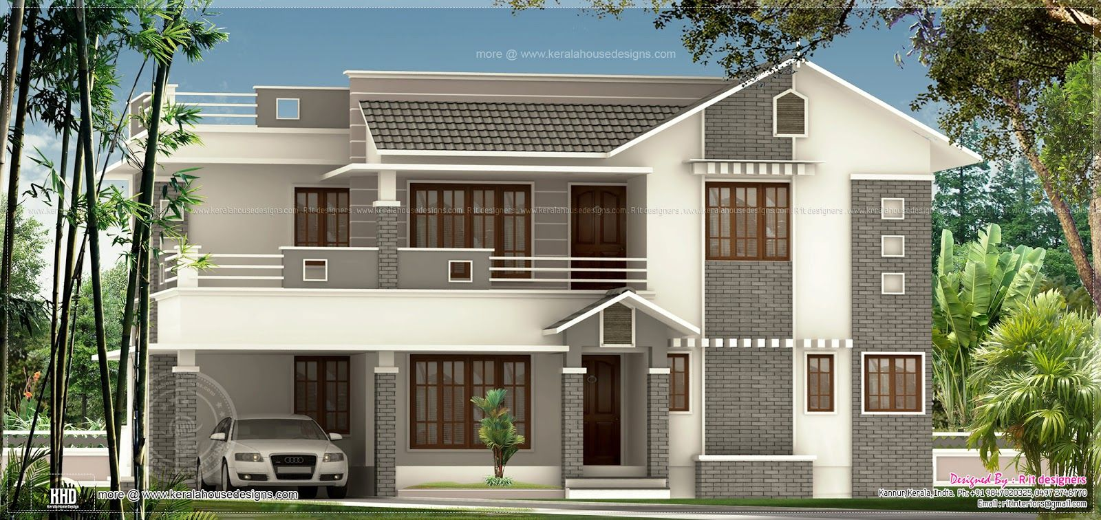Exterior colour combinations light shades exterior for Best exterior home designs in india
