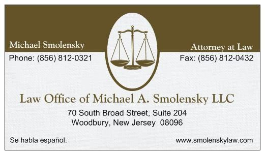 Law office of michael a smolensky llc law office of michael a smolensky llc 70 s broad st woodbury reheart Choice Image