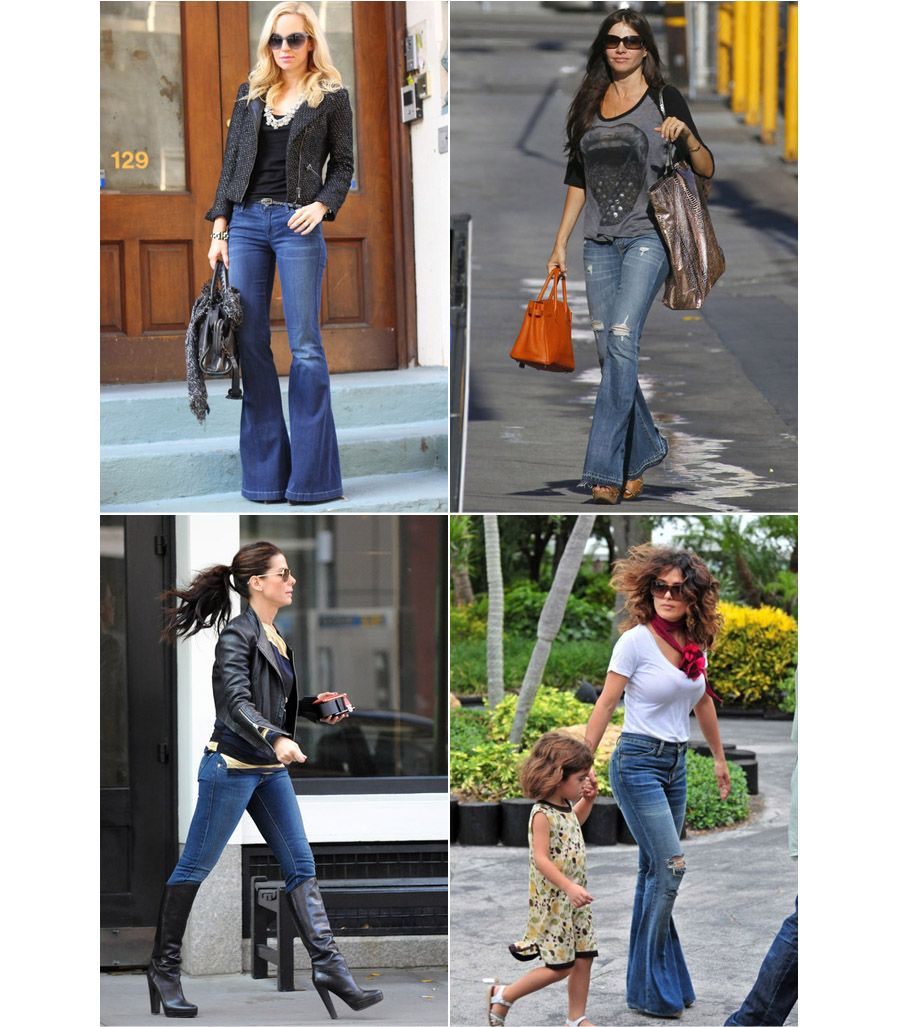 jill and the little crown: How to wear bell bottom jeans | Star ...