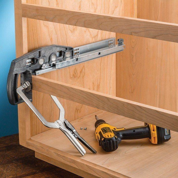 Rockler Undermount Drawer Slide Jig Sliding Drawer Hardware Drawer Slides Woodworking Software