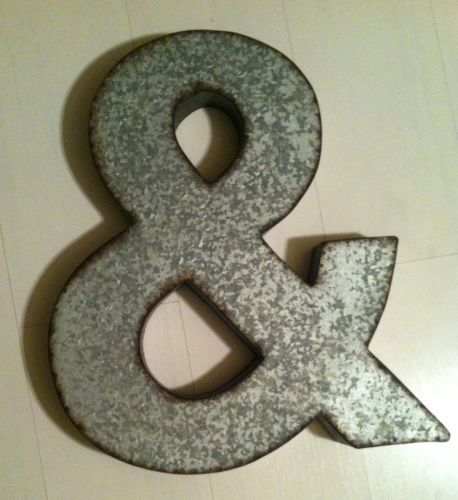 New Metal Letter Ampersand Sign 20\ - paredes con letras