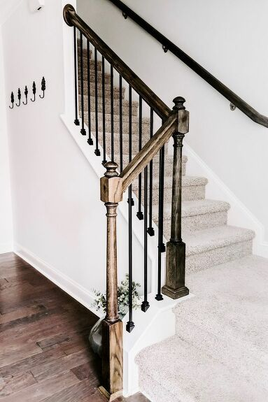 Best Replace Wood Stair Balusters With Iron Balusters Stair 400 x 300