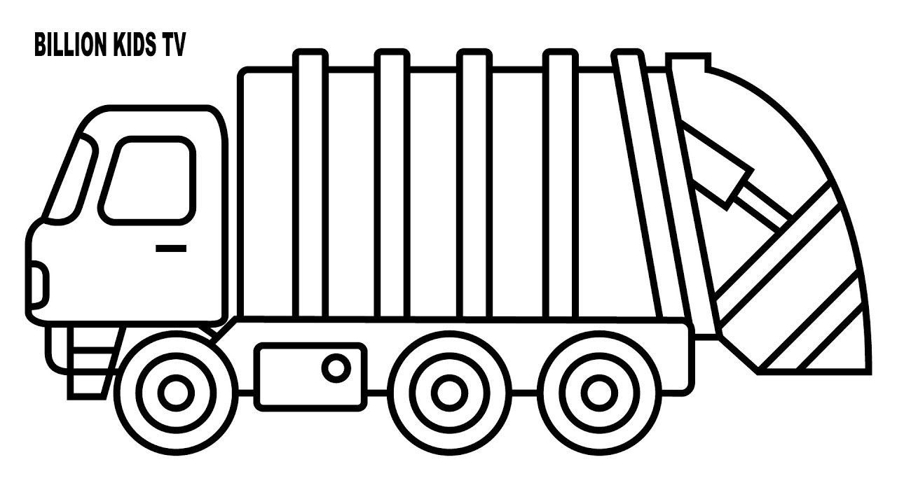 Image Result For Garbage Truck Truck Coloring Pages Garbage