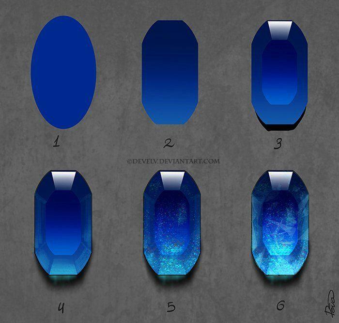 Blue Gem Digital Rendering   Digital Painting in 2019   Drawings