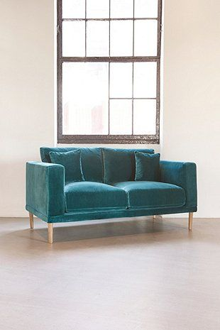 Harley 2-Seater Green Velvet Sofa