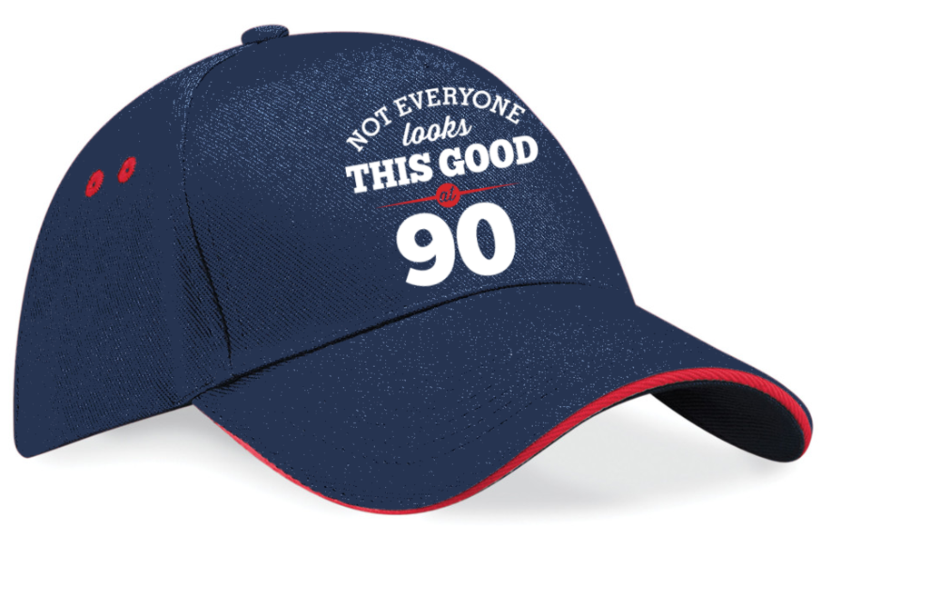 Not Everyone Looks This Good 90th Birthday 1927 Gift Vintage Embroidered Hat Idea 90 Years Old