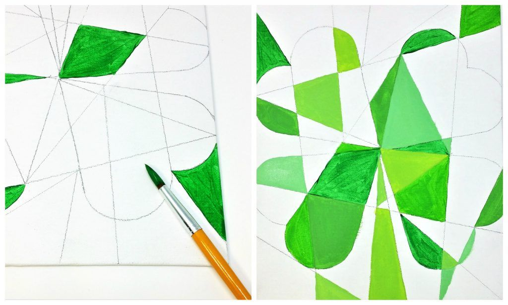 Cubist Clover St Patrick S Day Abstract Art For Kids Art New Bedford