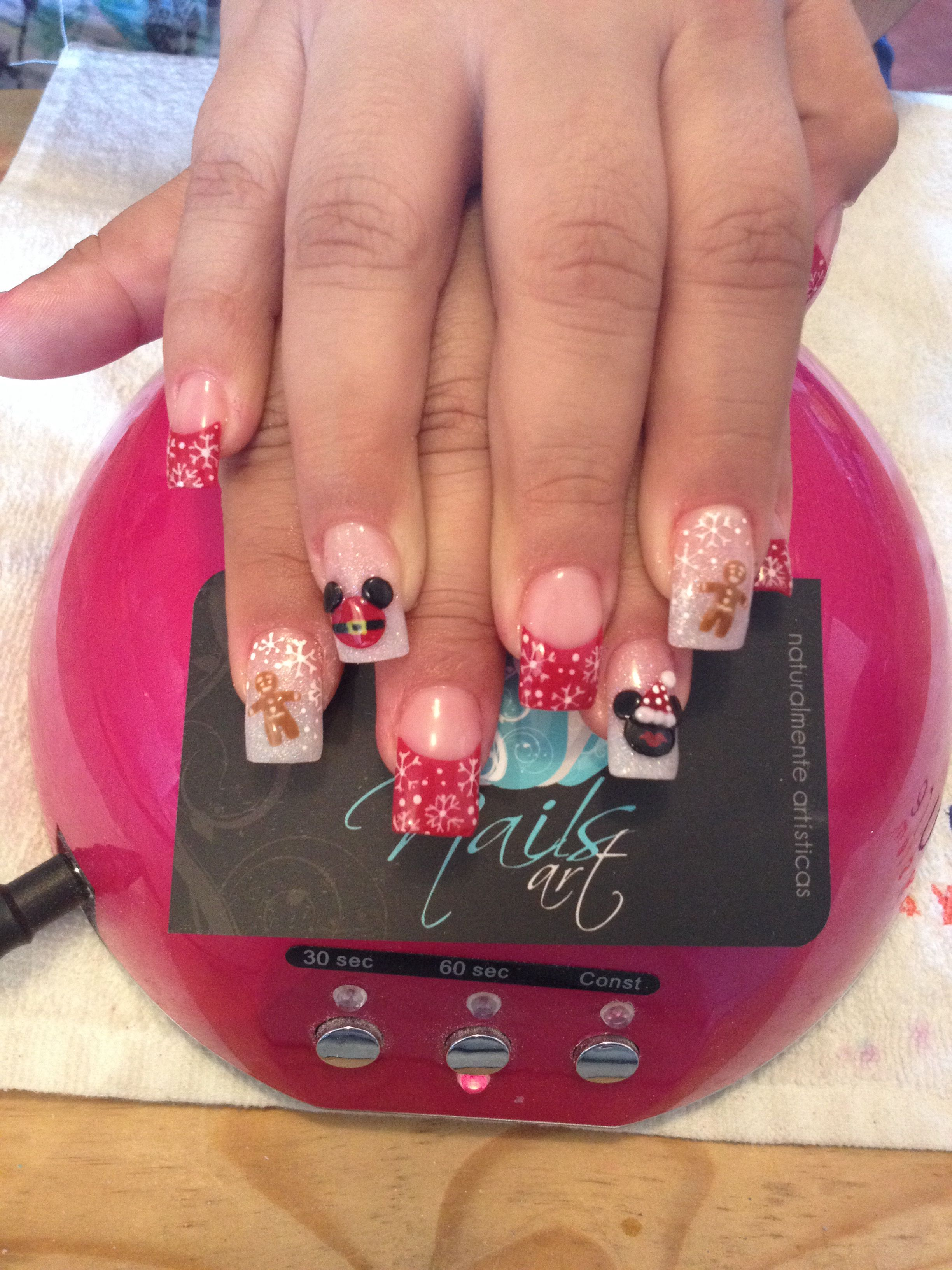 nails art acrylic nails christmas nails - Disney Christmas Nails