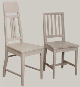 Harmaiksi pintakäsitellyt JUVI-tuolit. Jugend ja 4-pinna. juvi.fi