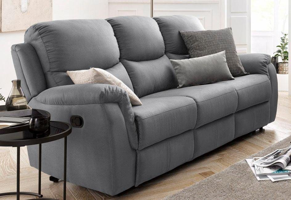 3 Sitzer Mit Relaxfunktion Und Federkern In 2020 Sitzgruppe Gunstige Sofas Couch Mit Schlaffunktion