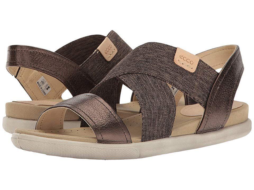 7e36ccf876 ECCO Damara 2-Strap Sandal Women's Sandals Licorice/Powder Cow ...