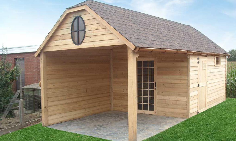 Landelijk Tuinhuis Met Overkapping In Hout Door Woodproject