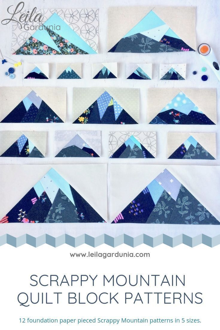 Complete Scrappy Mountains Pattern Bundle - PDF — Leila Gardunia