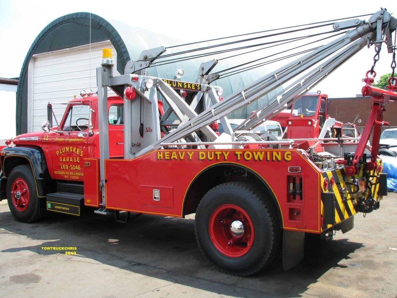 Plunske S Towing Wallingford Ct Tow Truck Car Hauler Trailer Ford Trucks