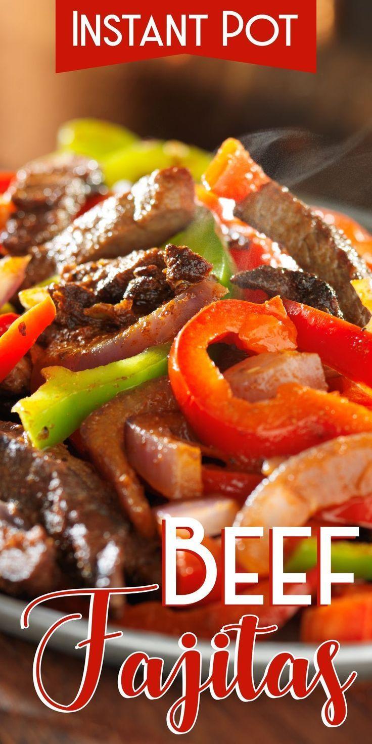 Instant Pot Beef Fajitas - Corrie Cooks