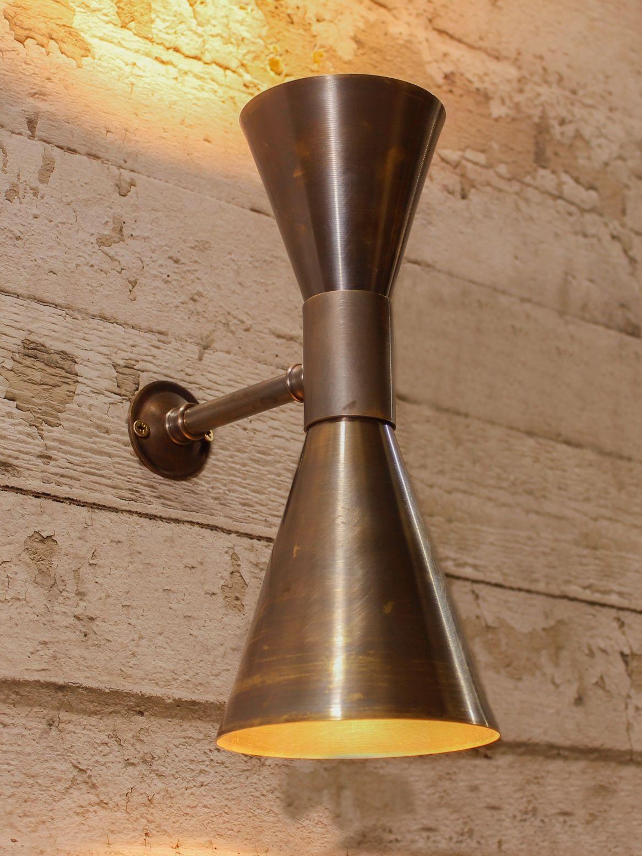 Updown antique brass wall light lights pinterest antique updown antique brass wall light aloadofball Gallery