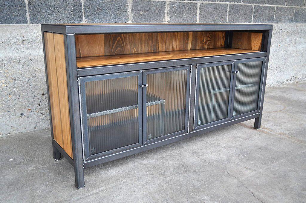 Petamediaconsole2 casa en 2019 muebles muebles for Muebles industriales metal baratos
