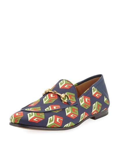 a791bb76203 GUCCI BRIXTON GG WALLPAPER PRINT LOAFER