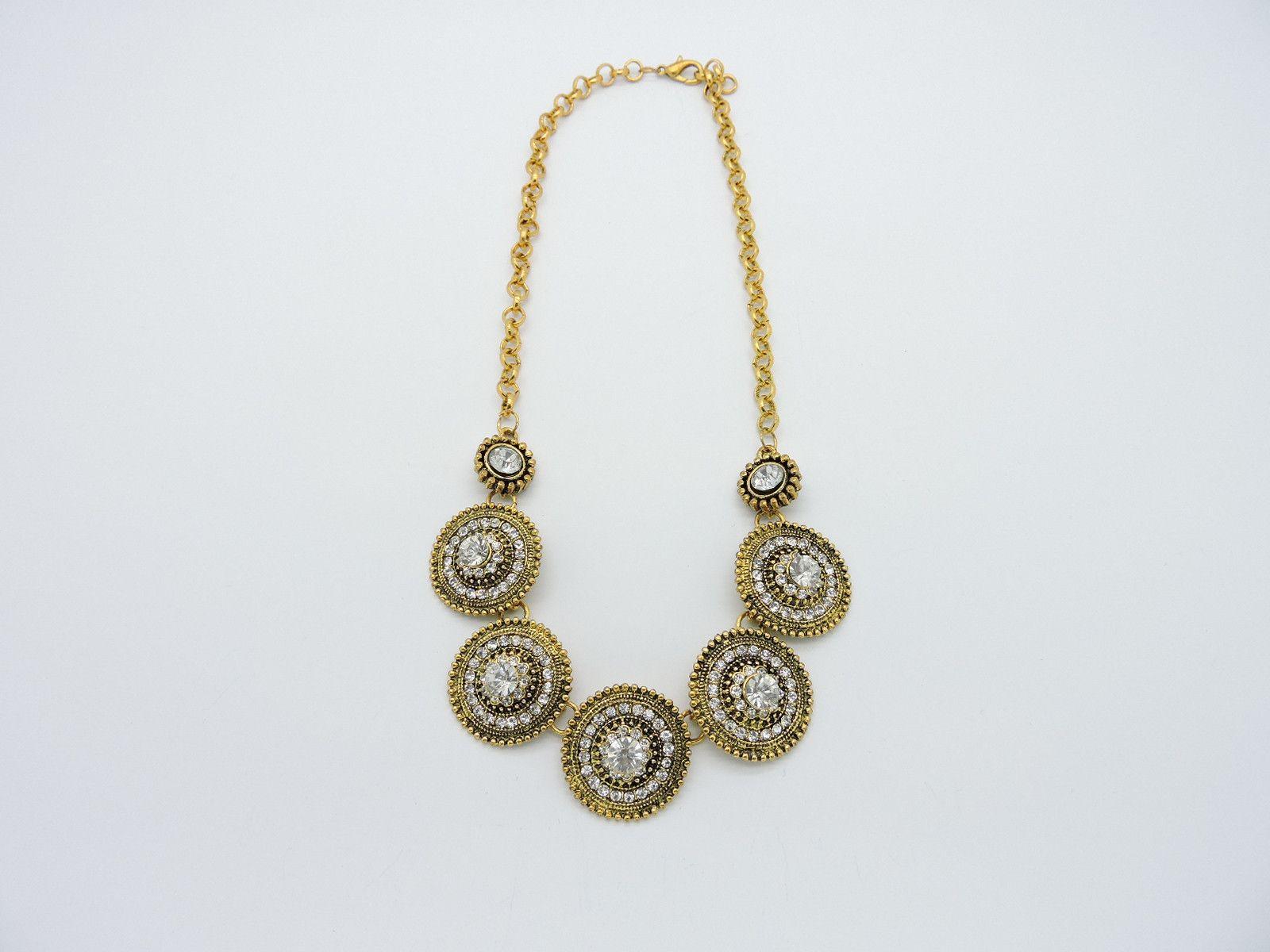 Stone Gold Necklace from Helen's Jewels. #jewelry #necklace #jewelryonpinterest #etsy #etsyjewelry #helensjewels #fashion #style #accessories #statementnecklace #glamorous #gold #goldnecklace #goldchain #goldpendant