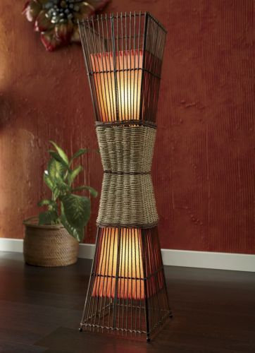 Floor lamp palisade cane from seventh avenue this would make a cute living room