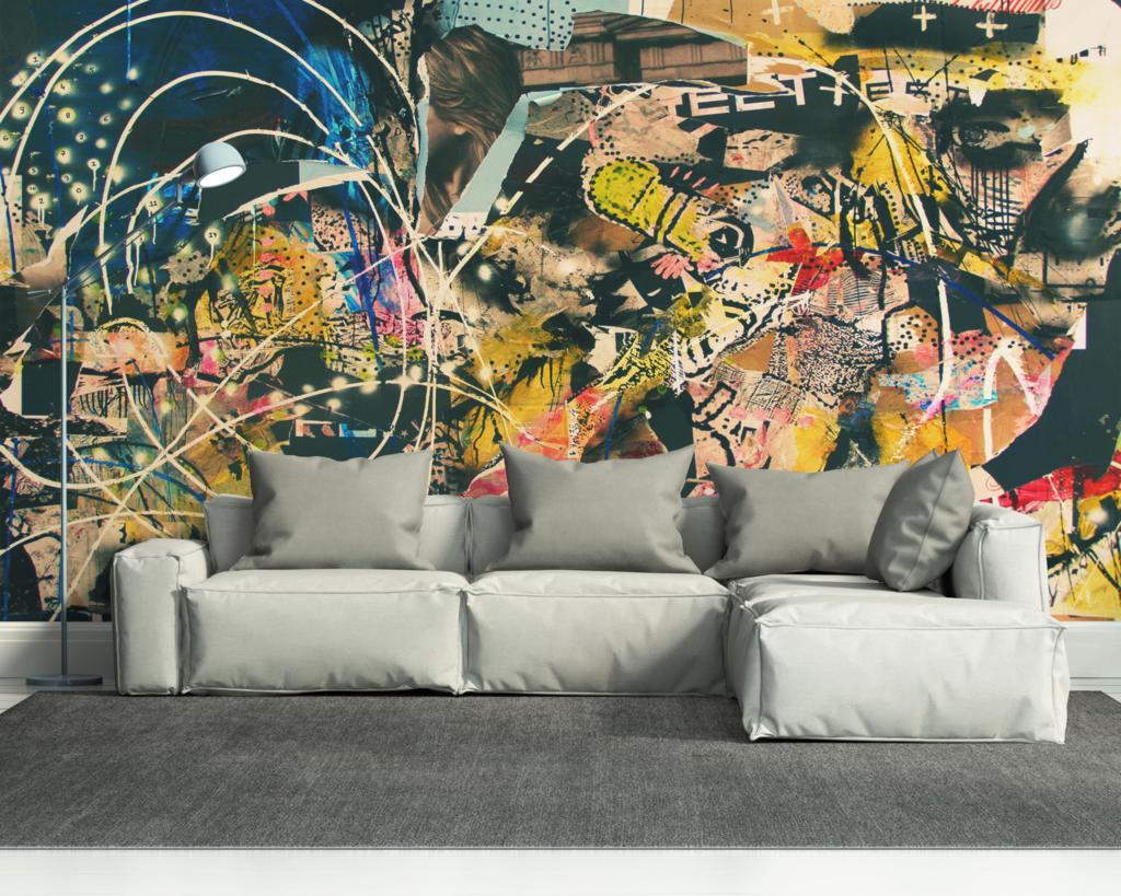 Abstract Graffiti Art Wall Mural
