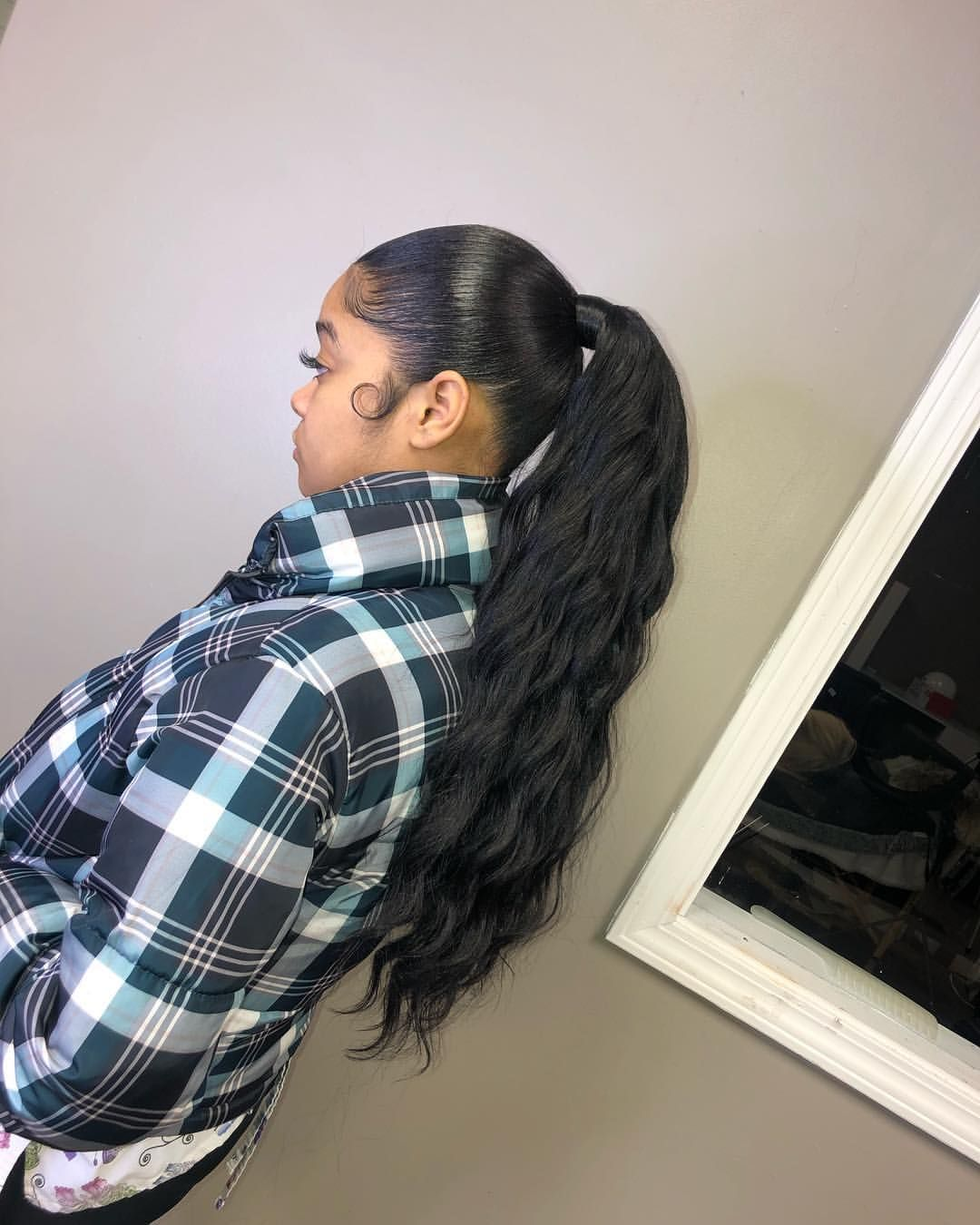 @alexismpins | Black prom hairstyles, Sleek ponytail, Hair ...