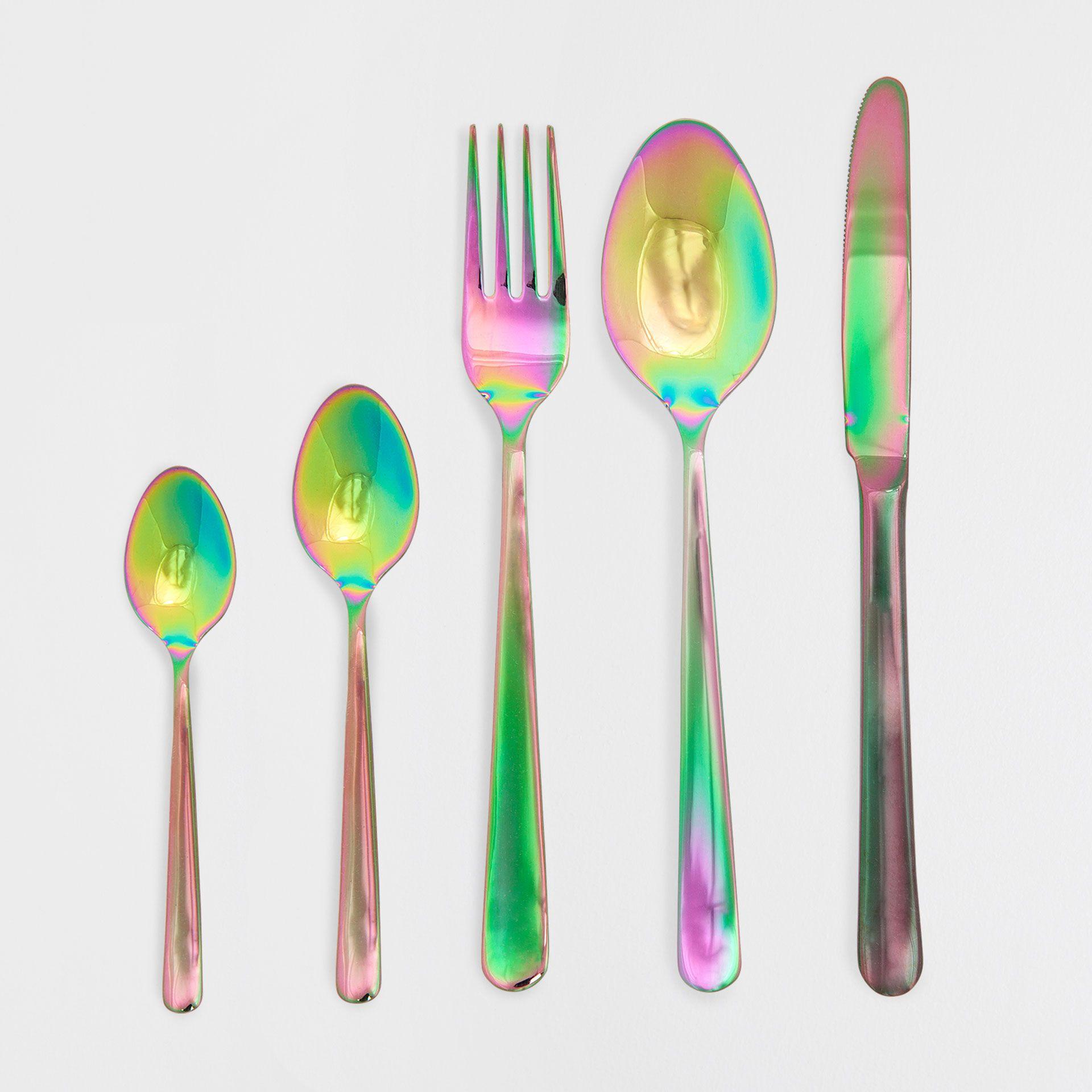 cuberter a acero efecto color zara utensilios de cocina